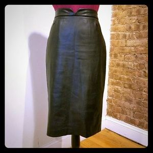 Zara Basic Faux leather Pencil Skirt